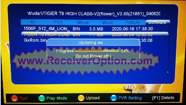 TIGER T8 HIGH CLASS V2 V3.85 NEW SOFTWARE WITH UPDATE EPG PRO
