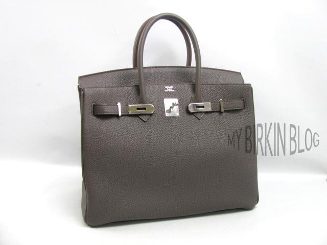 337fcd604b Store  2012 35 CM Etain Togo Palladium. HERMES BIRKIN BAG ...