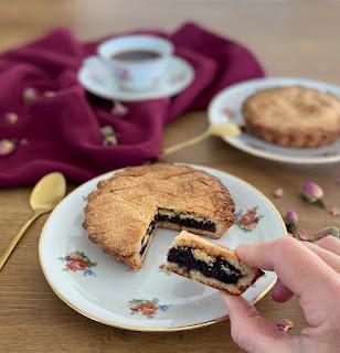 image Gâteau Basque à la cerise noire