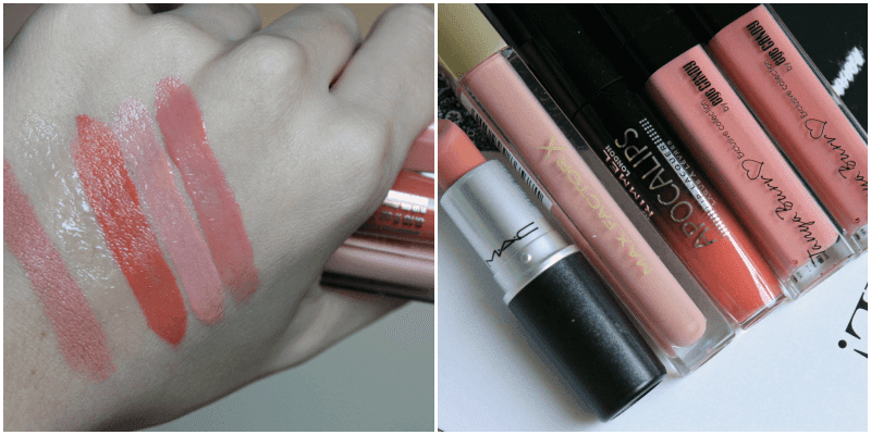 TANYA BURR LIP GLOSS - JUST PEACHY & AFTERNOON TEA review recenzija swatches comparisson