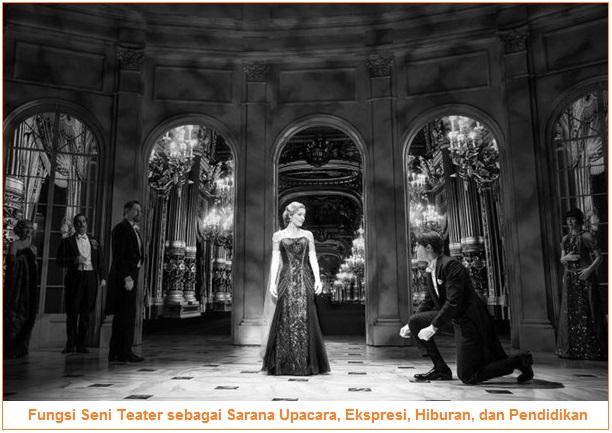 Fungsi Seni Teater sebagai Sarana Upacara, Sarana Ekspresi, Sarana Hiburan, dan sarana pendidikan