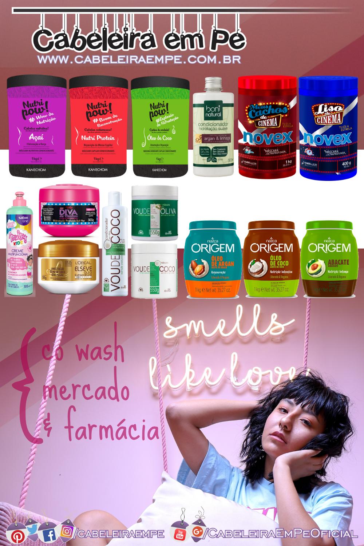 Máscaras e Condicionadores para co wash (Kanechom, Boni Natural, Novex, Salon Line, Niely, Elseve, Griffus e Nazca)