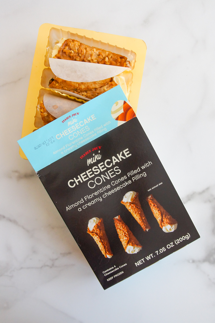 Sweet on Trader Joe's Sunday: Mini Cheesecake Cones review