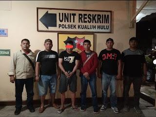 Unit Reskrim Polsek Kualuh Hulu Amankan Fajaruddin Lagi Asyik Nyabu