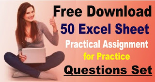 Free Download 50 Excel Sheet Practical Assignment Questions for Practice