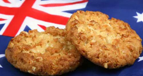 ANZAC BISCUITS : ini adalah salah satu menu kesukaan masyarakat Australia. Anzac Biscuits.  Gambar dari Internet