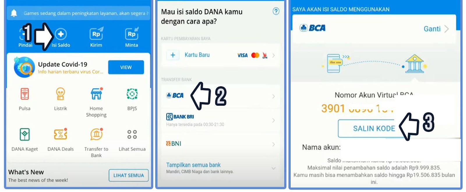 Cara Top Up Dana Lewat m Banking BCA