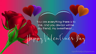 Happy Valentines Day Card With Rose Flowers Hearts And Colourful Background Design