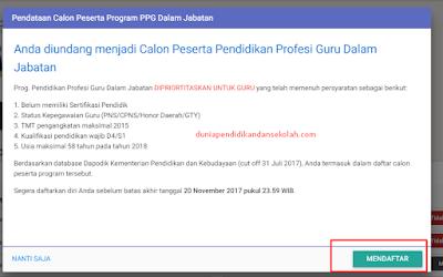 Panduan Mendaftar PPG - Ajuan dan Status Pendaftaran PPGJ di SIM PKB
