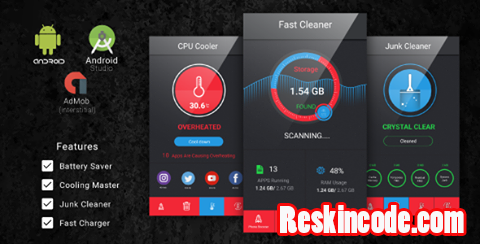 Fast Cleaner And Battery Saver with Admob Ads Codecanyon Android