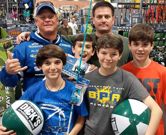 Capt Blair with Fans at Dick's Sporting Goods