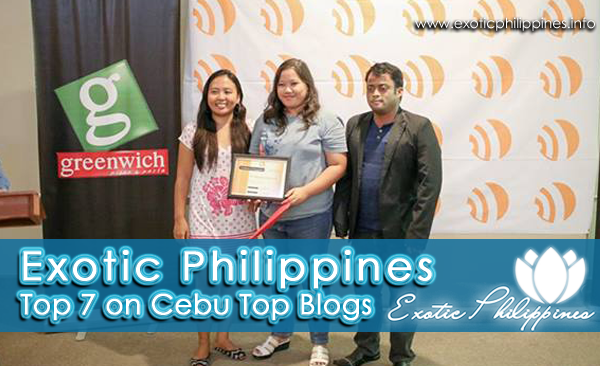 Exotic Philippines won the Top 7 on Cebu Top Blogs of Best Cebu Blogs Awards 2013