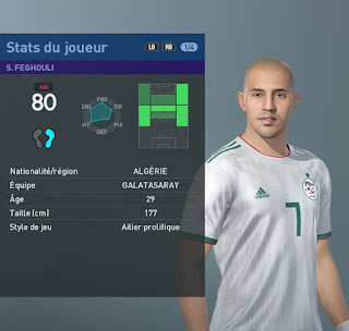 PES 2019 Faces Sofiane Feghouli by TiiToo Facemaker
