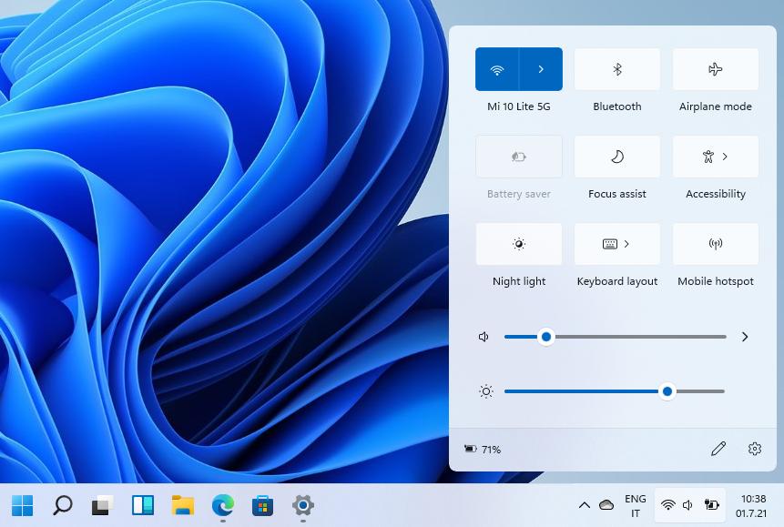 Come aprire il flyout con orologio (anche i secondi), calendario ed eventi sulla taskbar in Windows 11