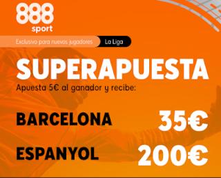 888sport Superapuesta Liga Barcelona vs Espanyol 8 julio 2020