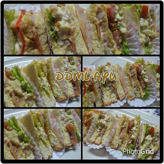 Orted Fancy Sandwich Untuk Family Mak Long Kebetulan Hari Ni Semua Adik Dan Anak Buah Berpul Di Rumah Jadi Menu Minum Petang