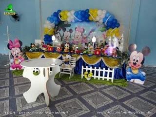 Decoração mesa de aniversário Baby Disney - Festa infantil