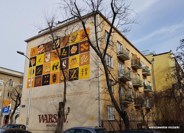 Warszawa Warsaw Mokotów kaligrafia liternictwo good lookong studio murals streetart muralart mokotowskie murale street kamienica