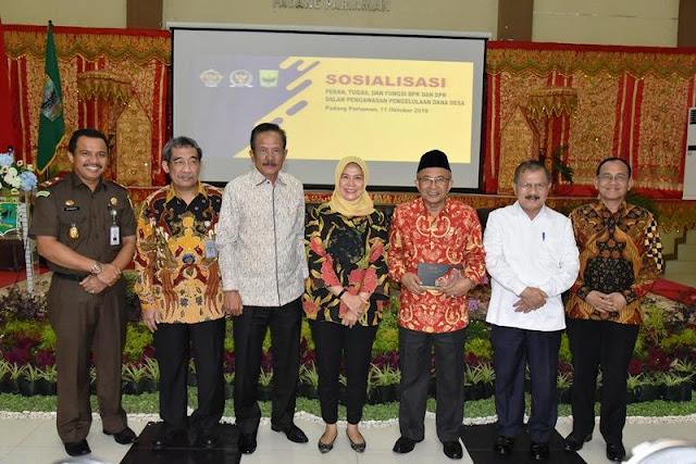 Ali Mukhni Hadirkan BPK Sosialisasikan Pengawasan Dana Nagari di Padangpariaman