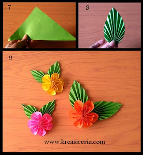 Tutorial membuat origami bunga cantik part 2