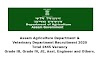 Assam Agriculture & Veterinary Department Recruitment 2020. Total 2445 Vacancy. Grade III, Grade IV, JE, Asst. Engineer and Others.