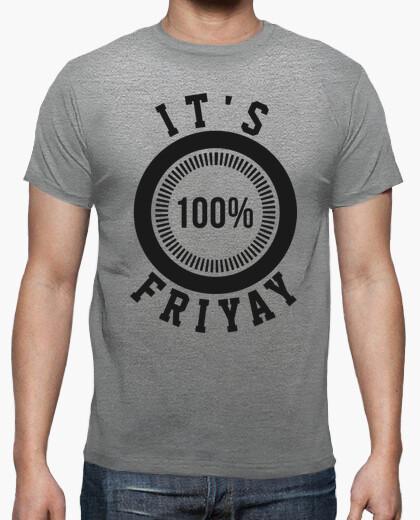 Camisetas Hombre - Diseño It's Friyay (negro)