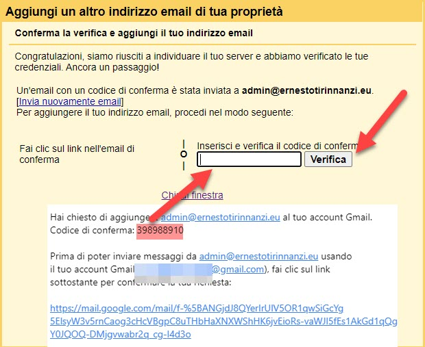 verifica account gmail
