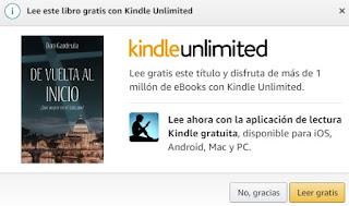 Servicio KindleUnlimited De vuelta al inicio