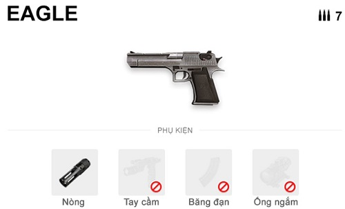 Eagle là khẩu súng lục uy lực nhất trong Free Fire