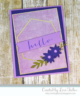 Hello Frame card-designed by Lori Tecler/Inking Aloud-stamps and dies from Concord & 9th