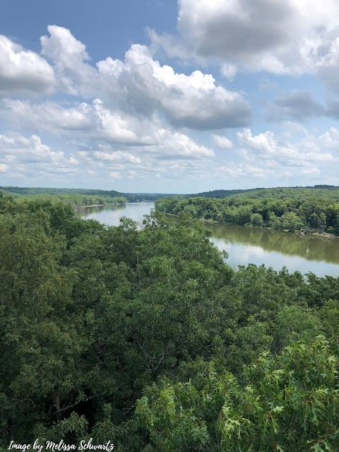 The Rock River gently bending.