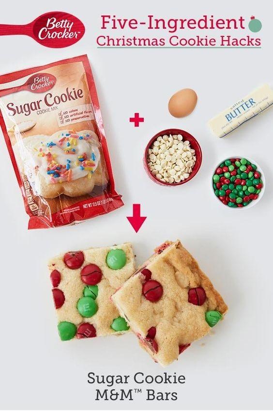 Sugar Cookie M&M's™ Bars
