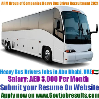 ARM Group of Companies Heavy Bus Driver Recruitment 2021-22