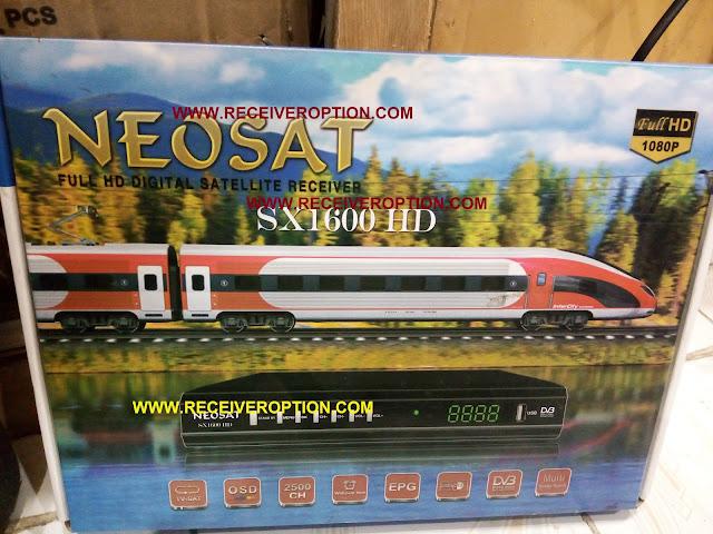 NEOSAT SX 1600 HD RECEIVER BISS KEY OPTION