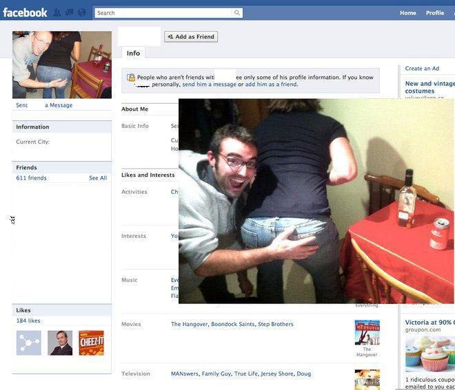 Perfil de facebook falso