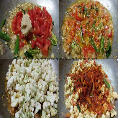 Cauliflower Tomato Curry Andhra Style How to Make