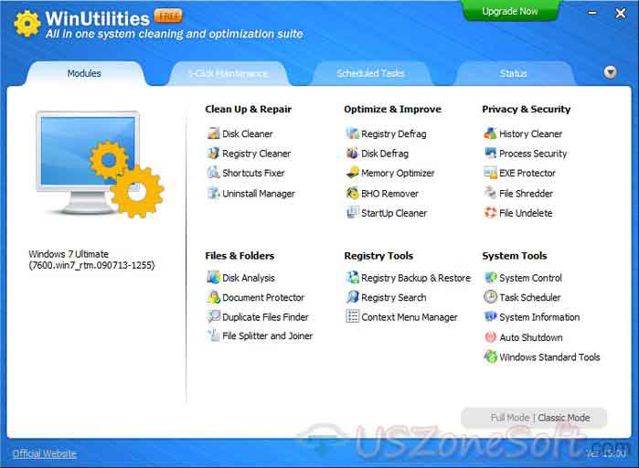 WinUtilities-main-screen