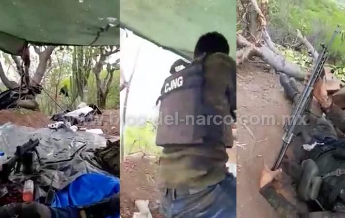 """Sicarios del CJNG hacen correr a Sicarios de Los Viagras y aseguran su armamento en Tepalcatepec, """"Vamos por ti Abuelo!"""" dicen"""