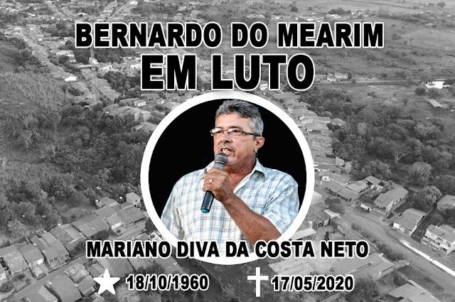 Morre de Covid-19 Ex -prefeito de Bernardo do Mearim