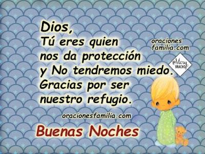 Oracion plegaria corta para decir a Dios en la noche nos protege
