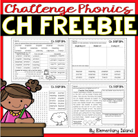 free CH phonics worksheets