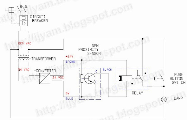 Traditional Wiring Method Of An Npn Proximity Sensor Without Using Plc