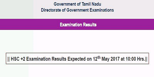 Tamil Nadu HSC +2 (Class 12th) Examination 2017 Results