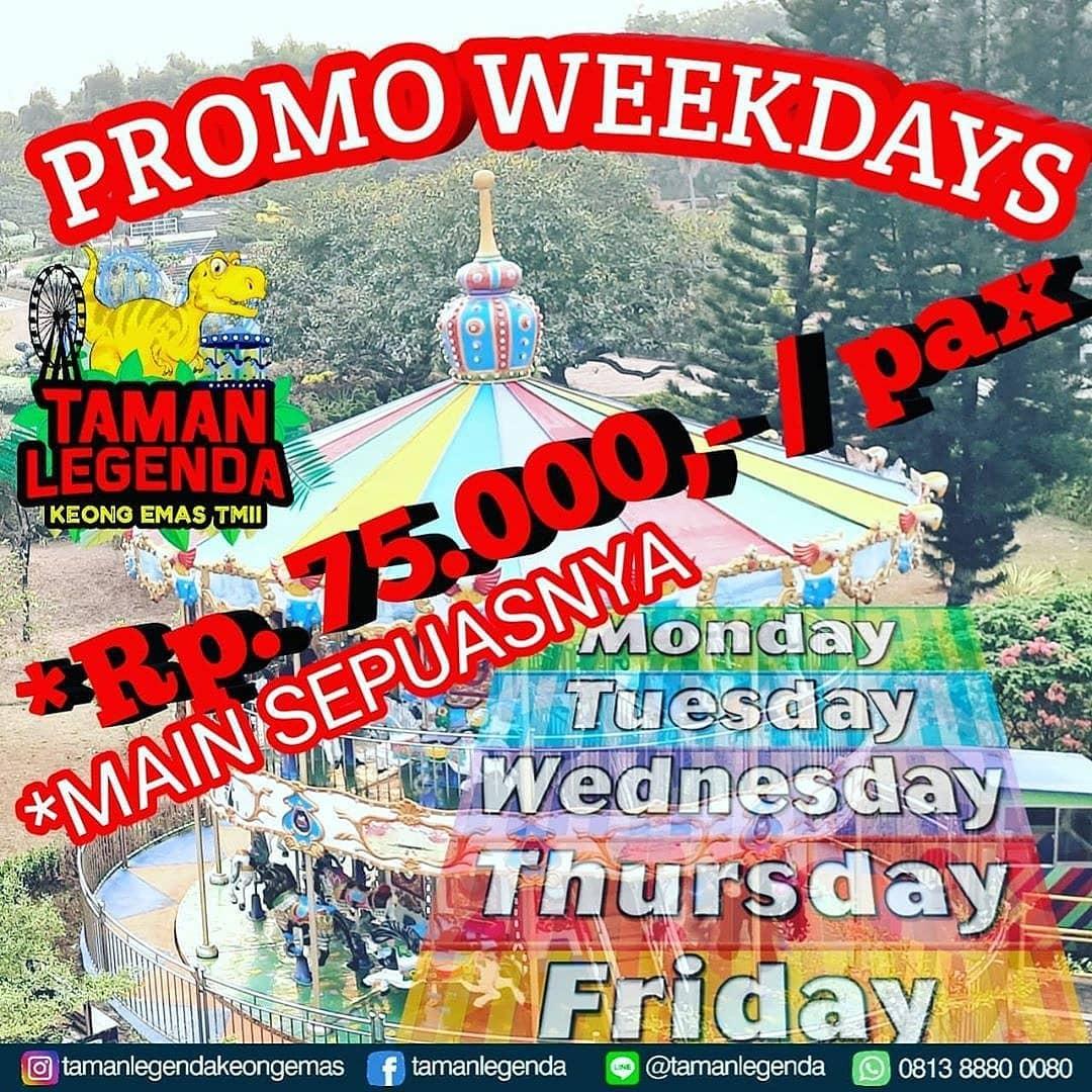 Promo Taman Legenda Keong Mas Weekday - Harga Spesial Tiket Main Sepuasnya Cuma Rp 75.000/pax