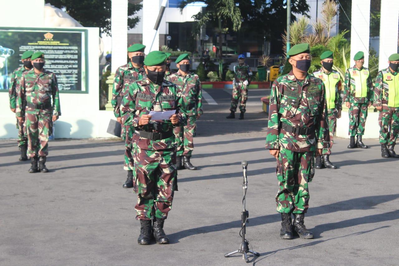 Kodim Pati berangkatkan dua Prajuritnya tergabung dalam Satgas Teritorial ke Kodam XVII/Cendrawasih