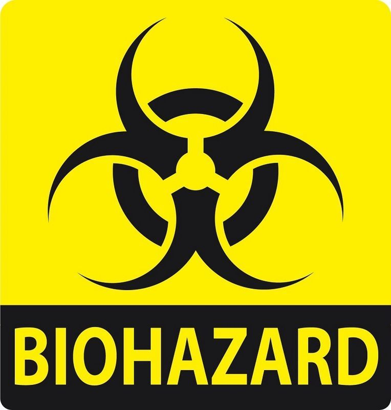 Image 3: This is the international biological hazard symbol, was developed in 1966 by Charles Baldwin, an environmental-health engineer working for the Dow Chemical Company on the containment products. It is used in the labeling of biological materials that carry a significant health risk, including viral samples and used hypodermic needles. In Unicode, the biohazard symbol is U+2623 (☣).   It represents a biological substance that poses a threat to the health of living organisms, primarily humans. The term and its associated symbol are generally used as a warning so that those who are potentially exposed to the substances will take precautions and those who see this symbol should alert.