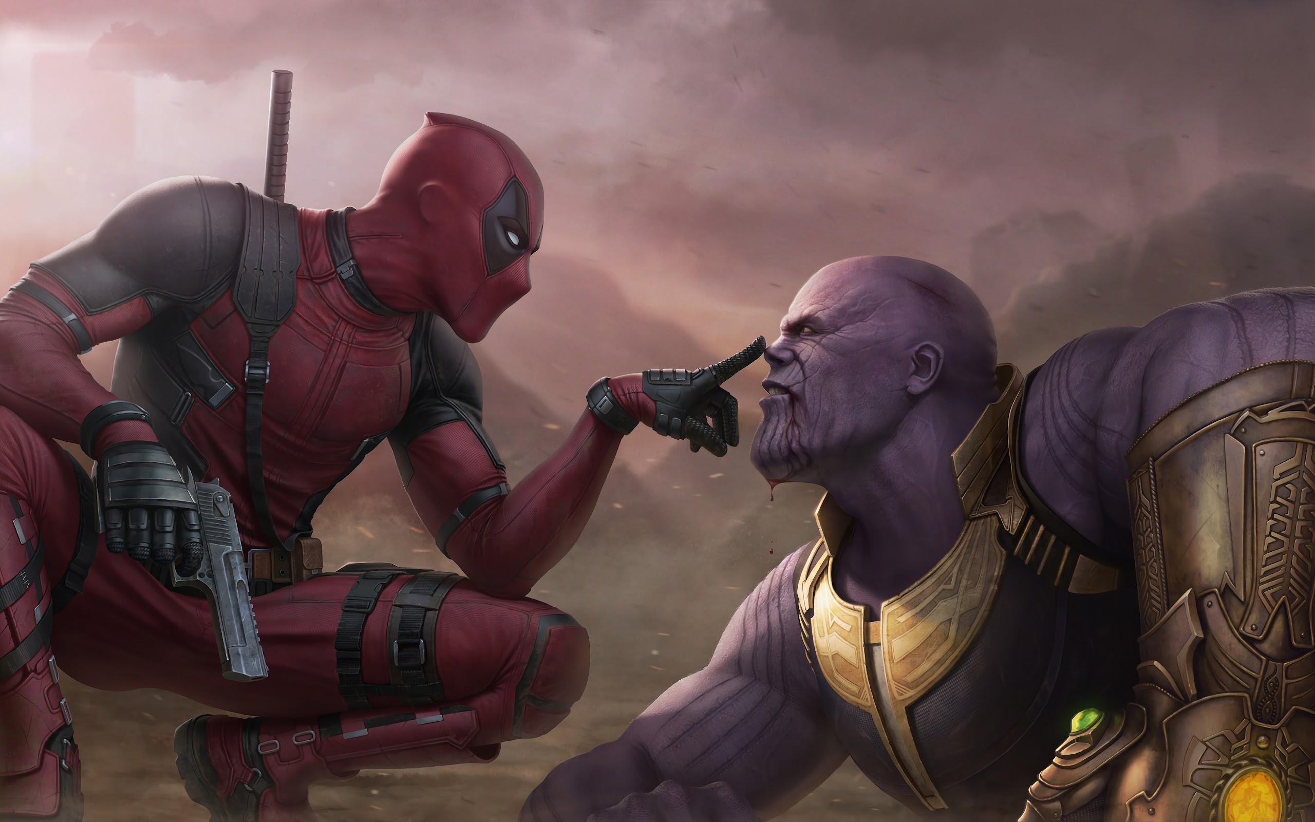 Deadpool Vs Thanos 4k Wallpaper 119