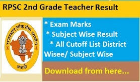 RPSC 2nd Grade Result 2020,rpsc.rajasthan.gov.in,RPSC Senior Teacher Result 2020,2nd Grade Result 2020,RPSC 2nd Grade Result 2020 Social science
