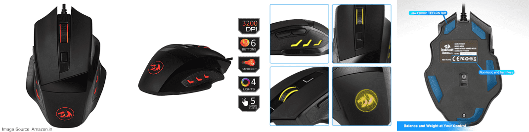 Redragon Phaser M609 Gaming Mouse (3200 DPI)