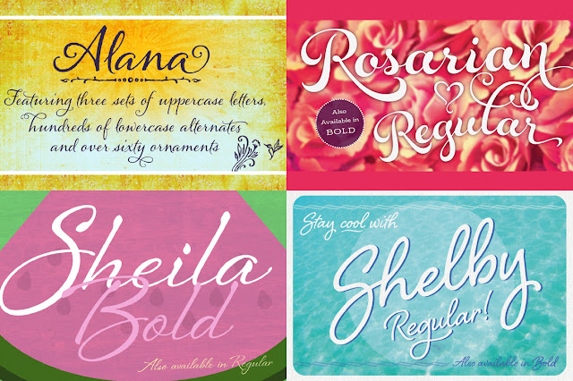 Laura Worthington font bundle sale discount pack